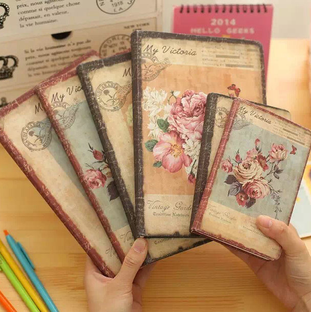 1pc Korea Cute Stationery European Retro Cloth Cover DIY Diary Book Cute Notebook Vintage Notebook(China (Mainland))