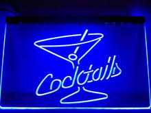 LB522- Cocktails Rum Wine Lounge Bar Pub LED Neon Light Sign(China (Mainland))