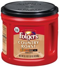 Folgers Country Roast Ground Coffee 31 1 Ounce