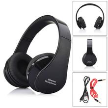 Factory Price foldable design and adjustable length Wireless Bluetooth Earphone Stereo Headset with audio jack Headphones WL1L