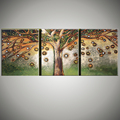 3 piece art Acrylic painting trees abstract modern pictures of abstract oil paintings on canvas wall