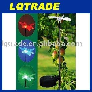The Latest Fashion Solar Garden Lamp/Solar Lawn Lamp dragonfly 2V 100mAh