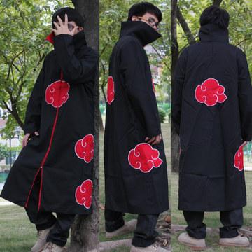 Naruto Akatsuki Cosplay Cape Cloak Anime Clothing Orochimaru Uchiha Madara Sasuke Itachi Cloak Clothes(China (Mainland))