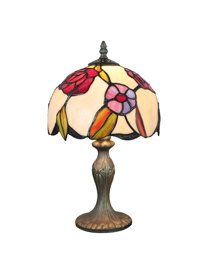 DHL Free Shipping Table Lamps Stained Glass Tiffany With Resin Base Desk Light Fixture Mediterranean Sea Style Bedroom E14(China (Mainland))