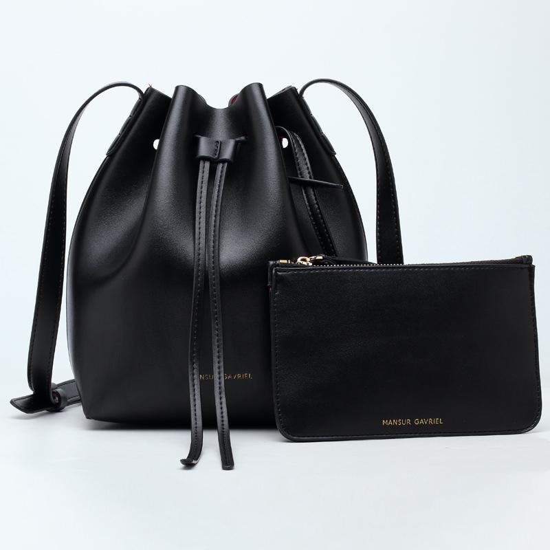 2016 Mansur Gavriel bucket bag women messenger genuine leather hand bag lady shoulder bag cross bag free shipping The wallet
