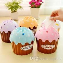 Tissue Pumping Box Towel Tube 981 Creative Cute Ice Cream Cake With Bath/Toilet Paper Car Kit Toothbrush Cup As Cheap As(China (Mainland))