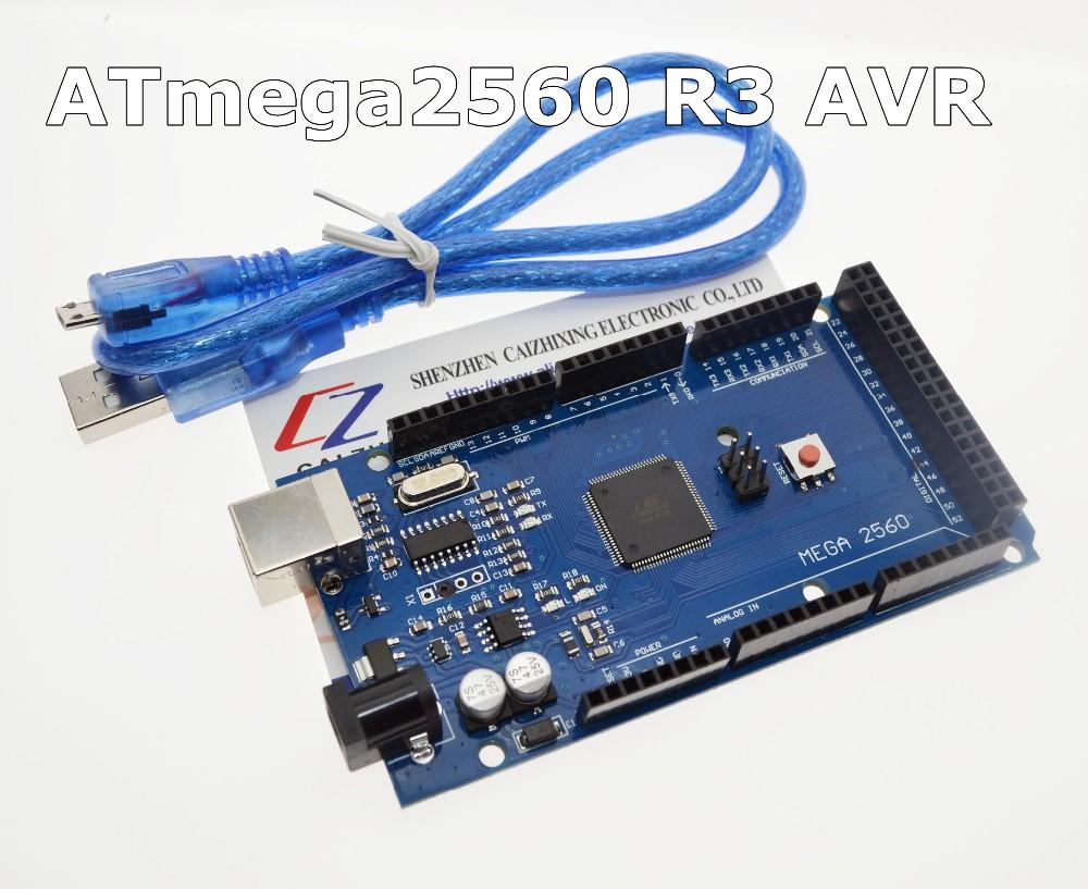 Free shipping MEGA 2560 R3 ATmega2560 R3 AVR USB board + Free USB Cable for Arduino 2560 MEGA2560 R3,We are the manufacturer(China (Mainland))