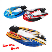 1pc Racing Boat Toys for Boys Bath Toys in Bathroom Beach Pool Bathing Kids Inflation Remontoir Speedboat High Quality(China (Mainland))