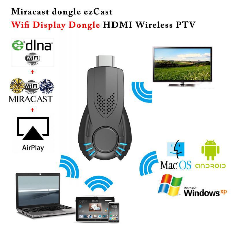 New ezcast tv stick DLNA Miracast Airplay TV dongle better than chromecast mk808 for iphone Windows iOS Android smart phone(China (Mainland))