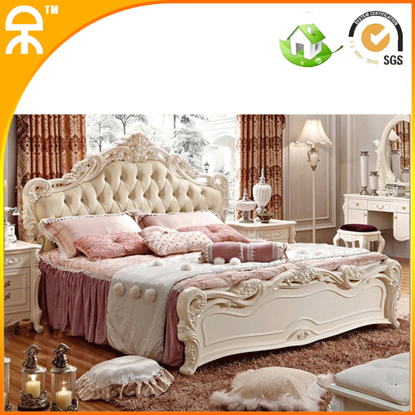 Free shipping two pretty princess style solid wood for Princess style bedroom furniture