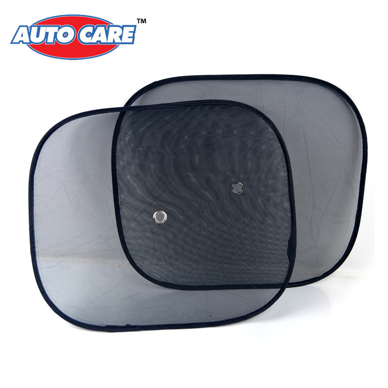 AutoCare 2pcs Black Side Car Sun Shades Rear Window Sunshades Cover Mesh Visor Shield Screen Interior Accessories(China (Mainland))