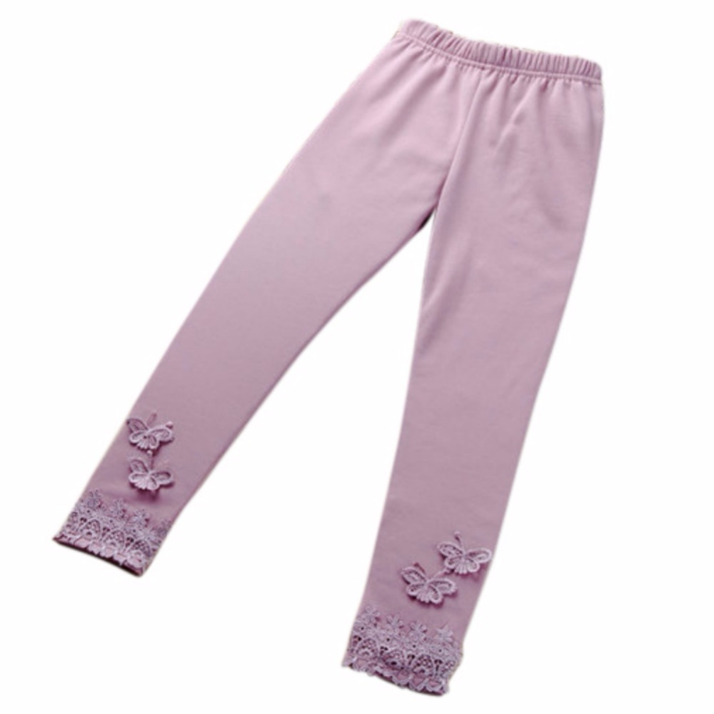 New Kid Baby Butterfly Lace Warm Pants Girl Stretchy Leggings Trousers Toddler Tight