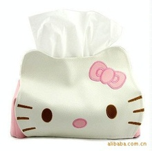 Dropship Hello Kitty Cute Home & Car Tissue Case Box Container  Towel Napkin Papers Bag Holder BOX Case Pouch(China (Mainland))