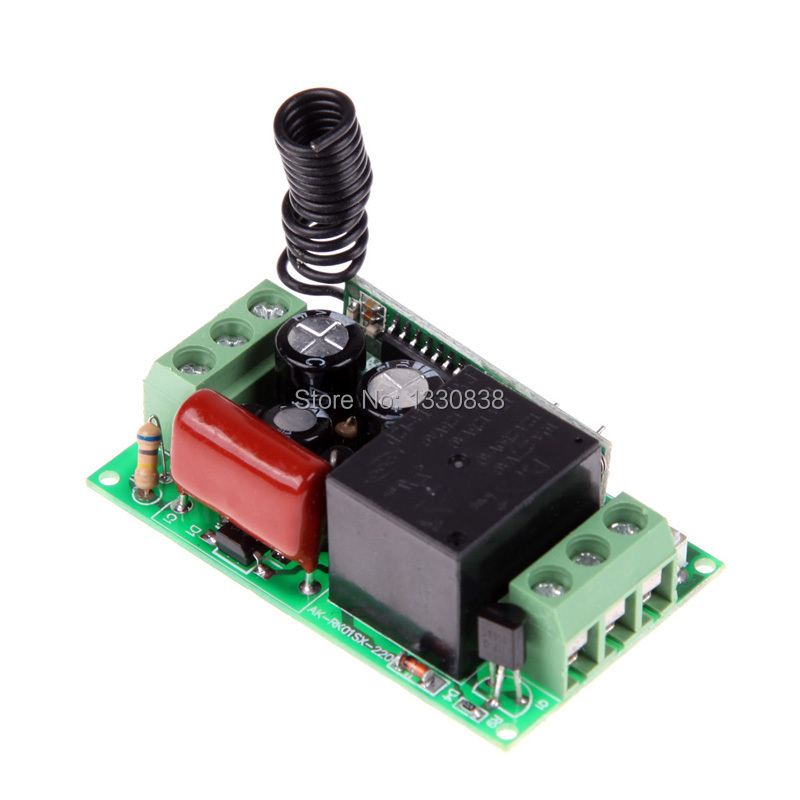 Free shipping Practical AK RK01S 220 A AC 220V 1CH 433MHz Wireless Remote Control Switch ME3L