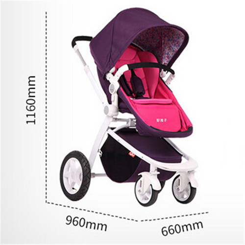 Good Quality Portable Baby Strollers Children Carriage Stroller Fashion Baby Buggy Pushchair High Landscape Pram Free Shipping(China (Mainland))