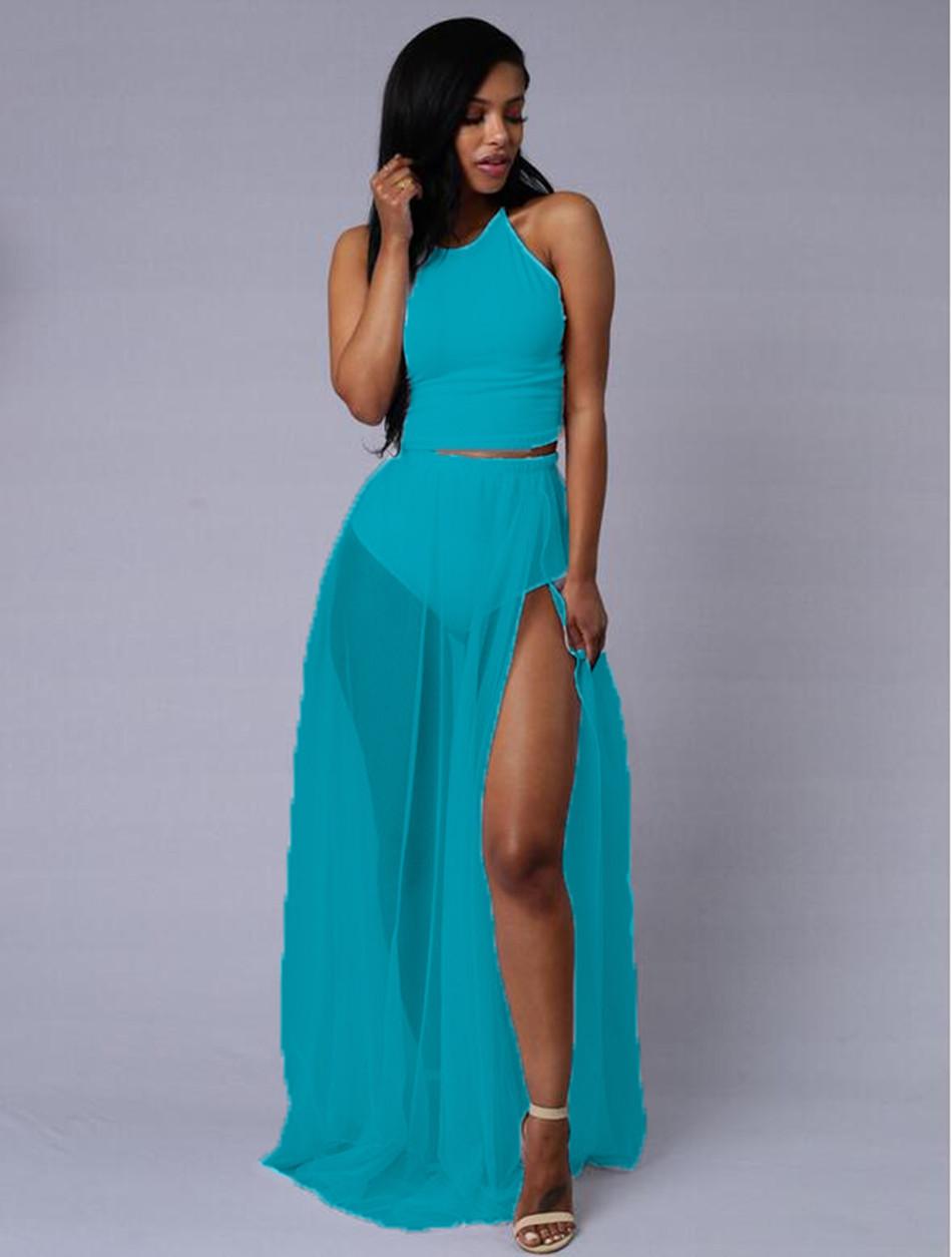 Blue o white dress orange