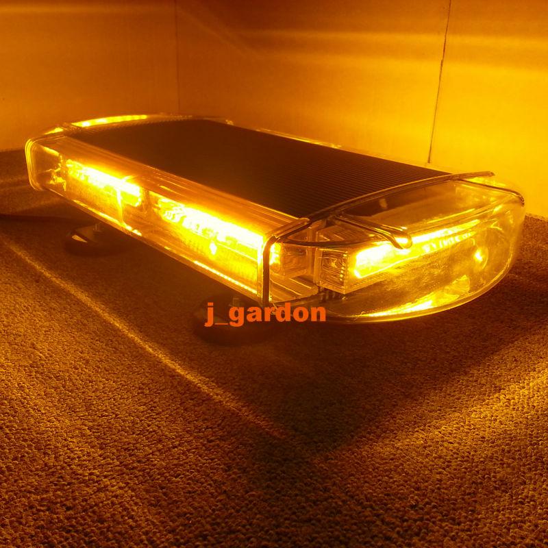 VSLED 42.5 cm Emergency LightBar Super Bright Wrecker Flashing Beacon Strobe Light 6 COB Light Bar Warning Amber LightBar(China (Mainland))
