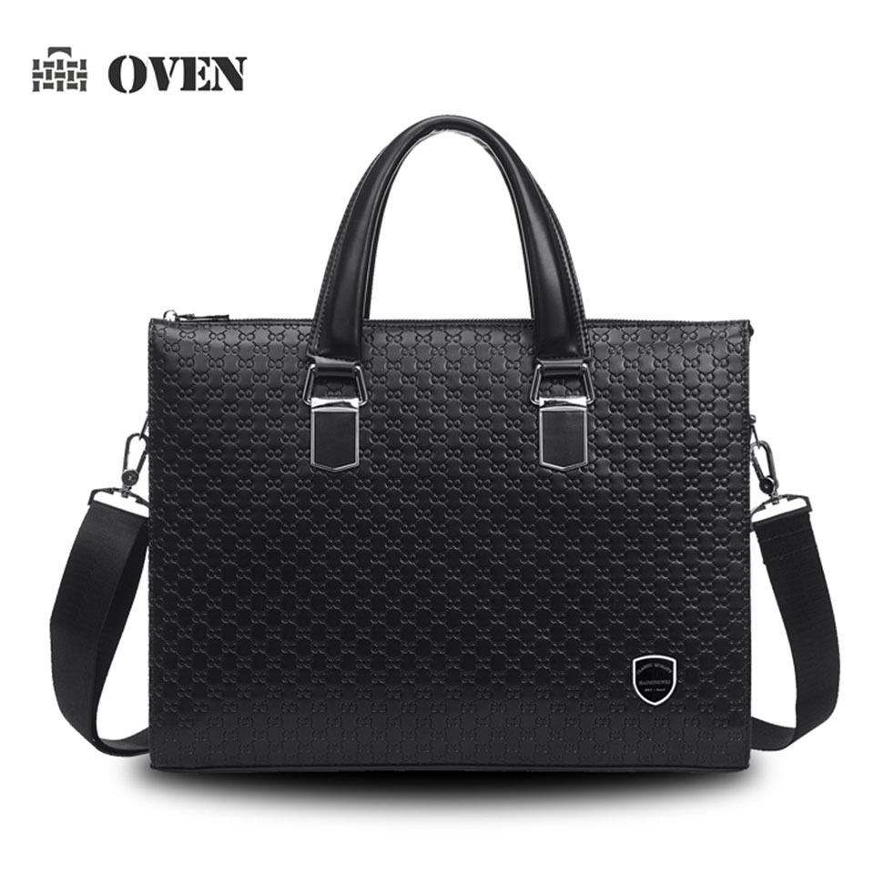 Luxury high quality men's briefcase pu leather brand men's handbags shoulder bags pu leather business men travel bag B89005-3(China (Mainland))
