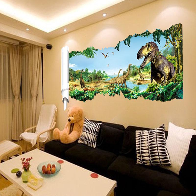 Buy saturday monopoly diy home decor jurassic world dinosaur wall stickers - Home decor kids ...