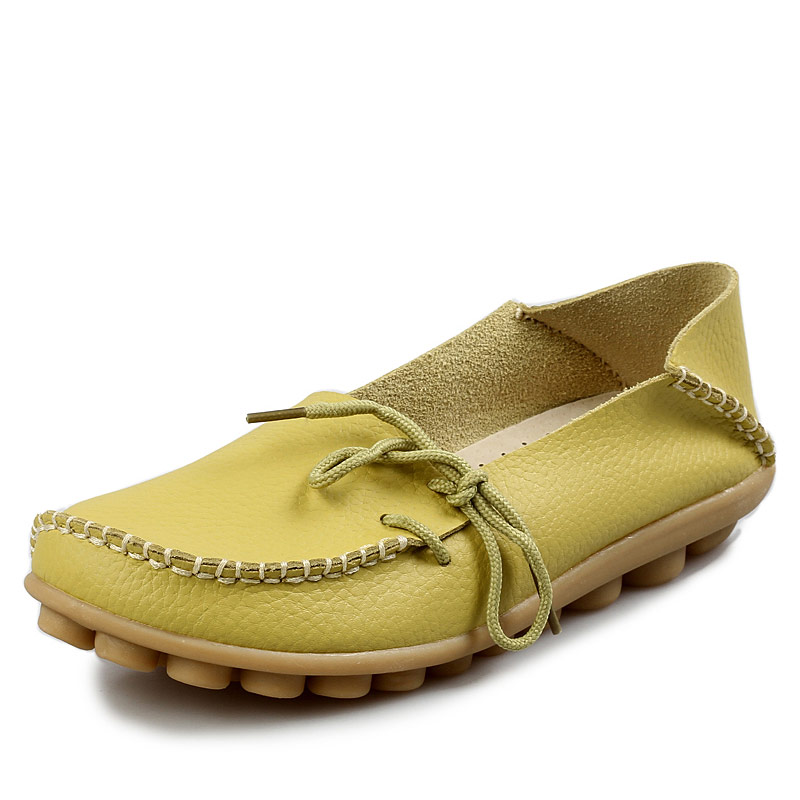 New Women casual flats Shoes Moccasins Mother Loafers Soft Leisure Flats Female Real LeatherDriving Casual Footwear comfortable(China (Mainland))
