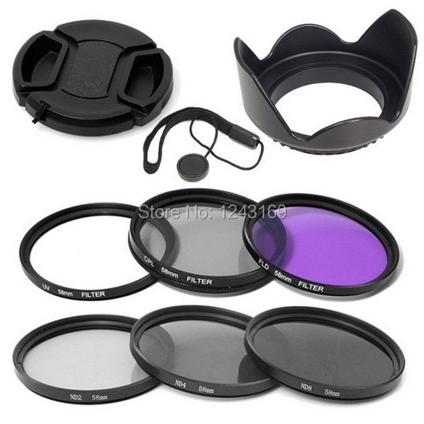 6pcs UV filter + CPL filter+ FLD filter+ ND2 ND4 ND8 52mm Lens filter kit for Nikon D7100 D7000 D5200 D5000 D3100 D3000 LF133-SZ(China (Mainland))