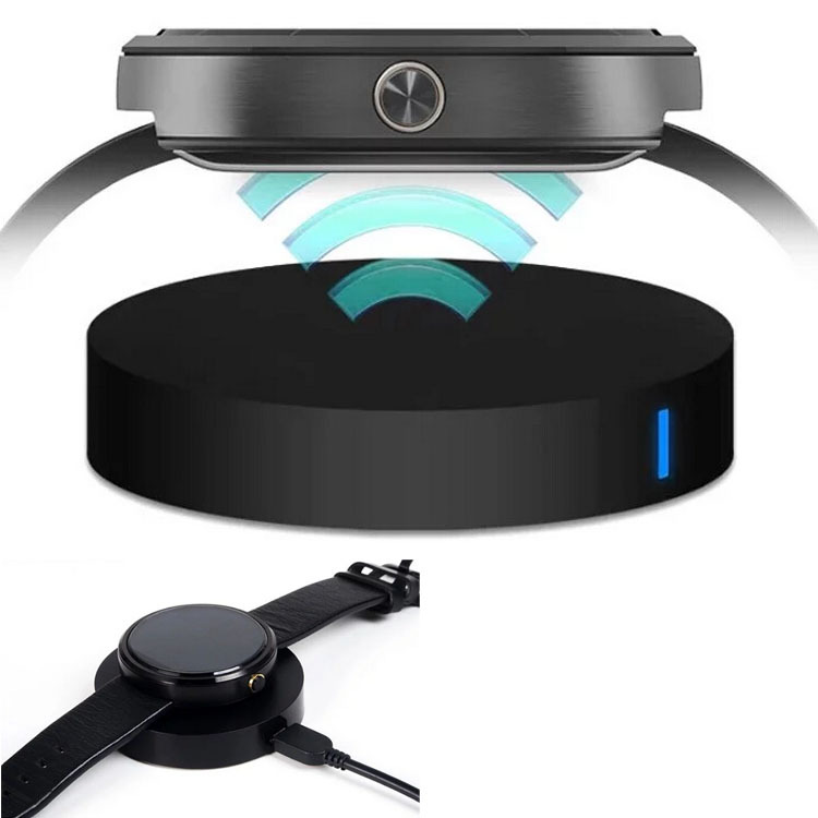 Black Unique Qi Wireless Charger Fast Charging For <font><b>Motorola</b></font> Moto 360 <font><b>Smart</b></font> <font><b>Watches</b></font> Smartwatch