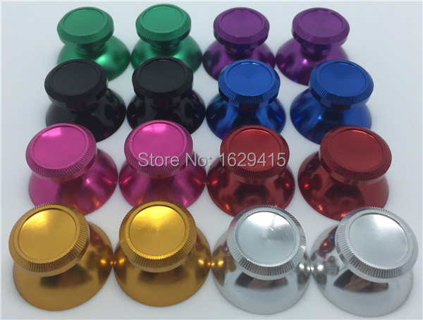Wholesale 20 pcs Aluminum Metal Analog Thumb stick For Sony PS4 Controller Gamepad Joystick Silver Gold Red Blue Purple Pink<br><br>Aliexpress