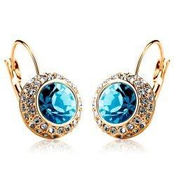 Гаджет  Vintage Fashion Hoop Earrings brinco New Fine Jewelry Unique Round Small Crystal Gold Filled Hoop Earrings For Women Wedding None Ювелирные изделия и часы