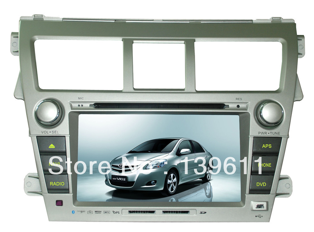 Digital Panel Screen car dvd player gps software for Toyota New Vios(China (Mainland))