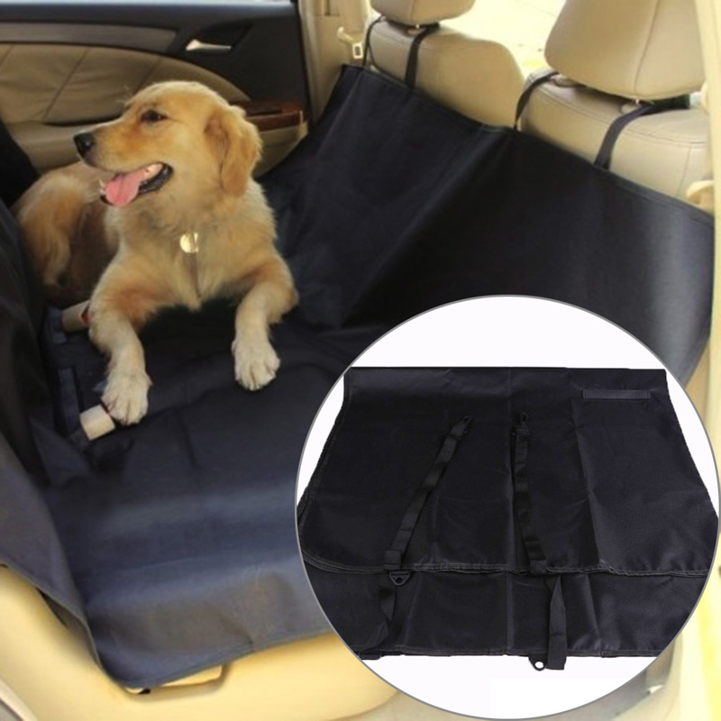 LS4G High Quality Hot New Black Washable Waterproof Pet Dog Cat Rear Back Seat Cover Pet