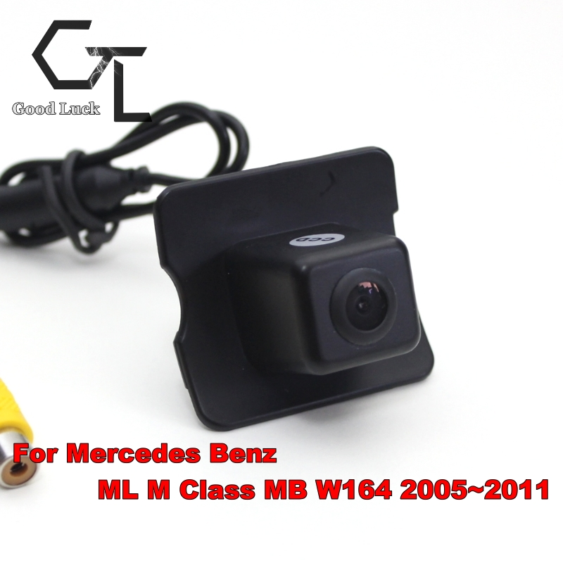 Car Rear Camera For MB Mercedes Benz M ML W166 2005~2011 / Back Parking Camera HD CCD RCA NTST PAL / License Plate Lamp OEM(China (Mainland))