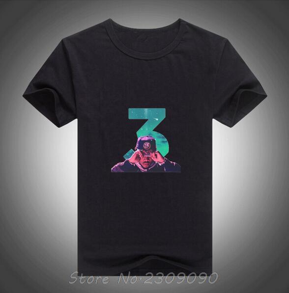 Summer classical T shirt fashion 100% cotton Men's Coloring Book Chance The Rapper Music Art T-shirt Tops(China (Mainland))