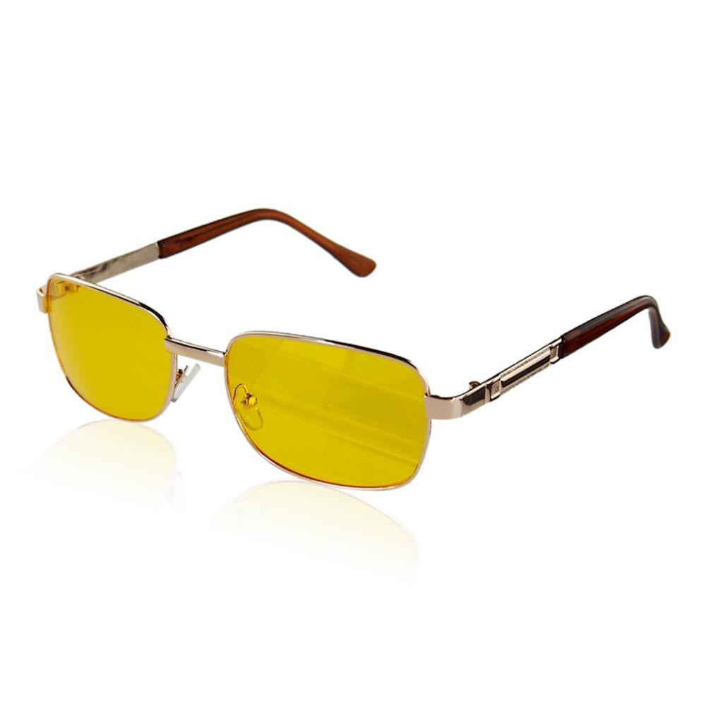 UV Sunglasses Night Vision Driving Glasses Yellow lens etal + Resin UV400 cool design free shipping(China (Mainland))
