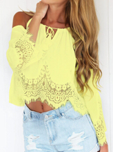Free Shipping 2015 Newest Fashion Summer Woman Mini Crop Tops Lace Chiffon Sexy Casual White Long Sleeve Women's Short Tank Tops(China (Mainland))