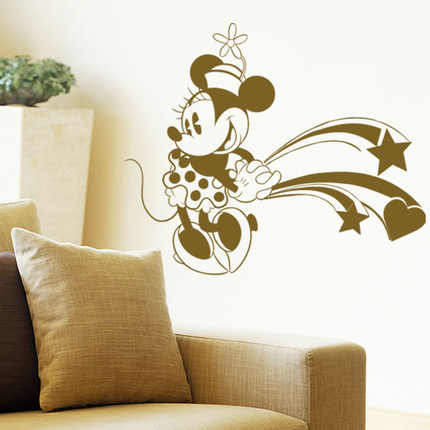 Free shipping diy minnie mouse personalized name art for Home decor names