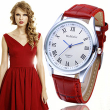 2016 Hot Sale Simple Style Leather Strap Quartz Watches Women Dress Wristwatch Luxury Brand Couple Watch Best Gift Graceful Lady