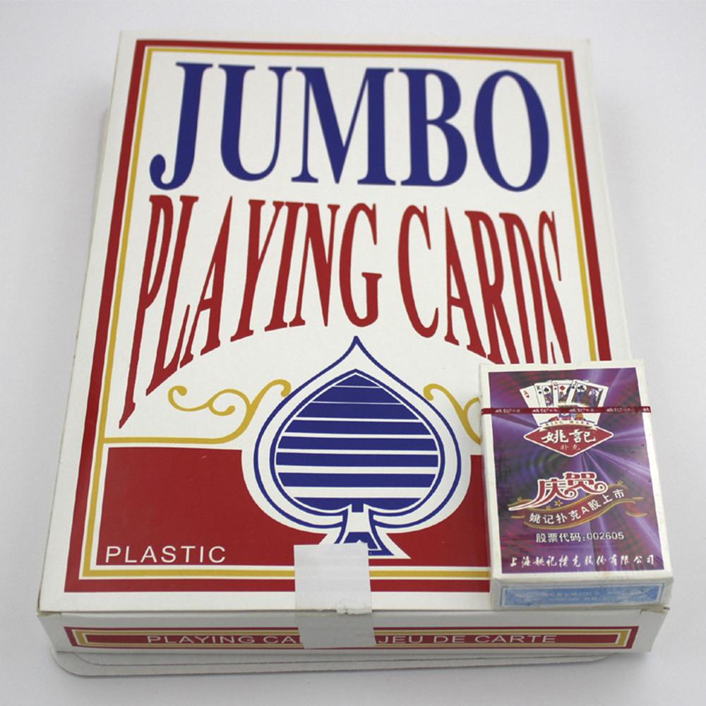 جامبو اللعب بطاقات بوكر ، حجم كبير جدا لعب الورق ، وهناك 4 حجم اللعب والترفيه للمتعة.(China (Mainland))