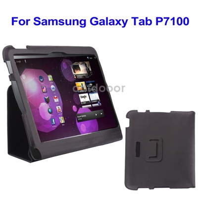 Ultrathin Leather Case For Samsung Galaxy Tab 10.1 P7100 with Holder Black<br><br>Aliexpress