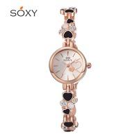 2016 new lady love high quality zircon Ouge Ya new unique design fashion girls bracelet watch watch SOXY
