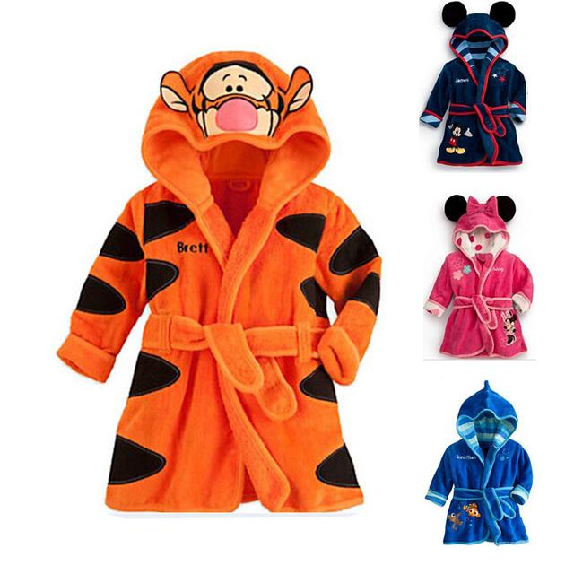 Мода капюшоном животных моделирование халат мультфильм ребенка характера дети банный ...