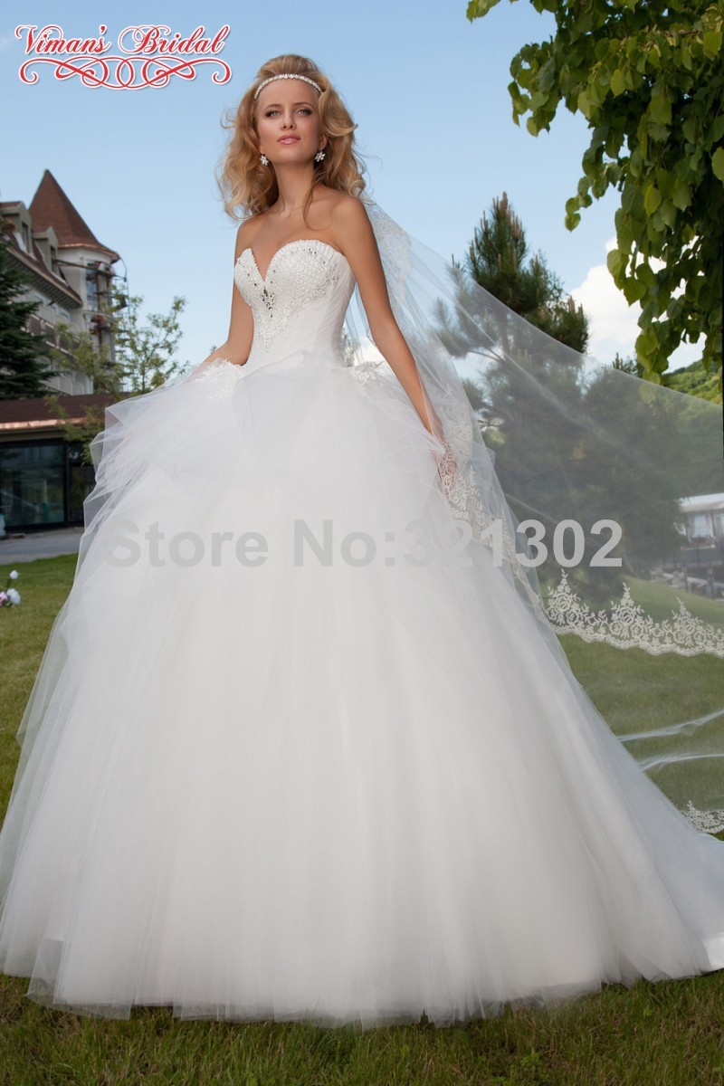 heart shaped wedding dress images