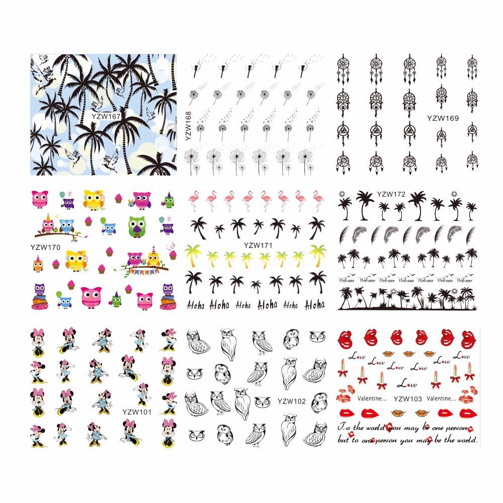 ZKO 1 Sheep Optional Coco Owl Cartoon Design Nail Art Stickers Black Lace Design Wraps Decoration Decal DIY Tips(China (Mainland))