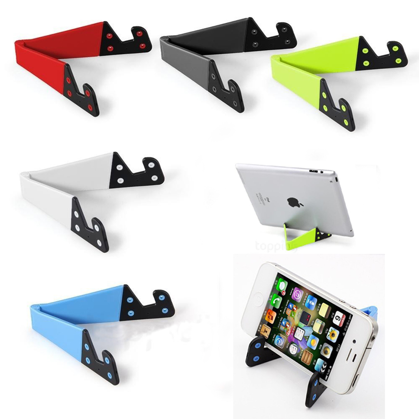 Universal mobile phone holder stand for samsung S6 S5 S4 iphone 6 plus 5s 4s notebook tablet pc stand Collapsible Easy Carry(China (Mainland))