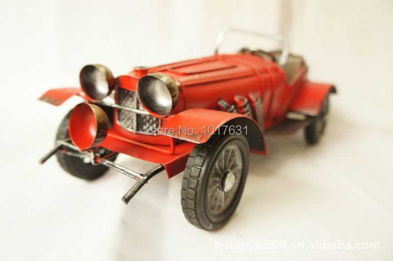 European and American retro car model super atmospheric iron craft furnishings classic cars red ornaments mixed batch 1263(China (Mainland))