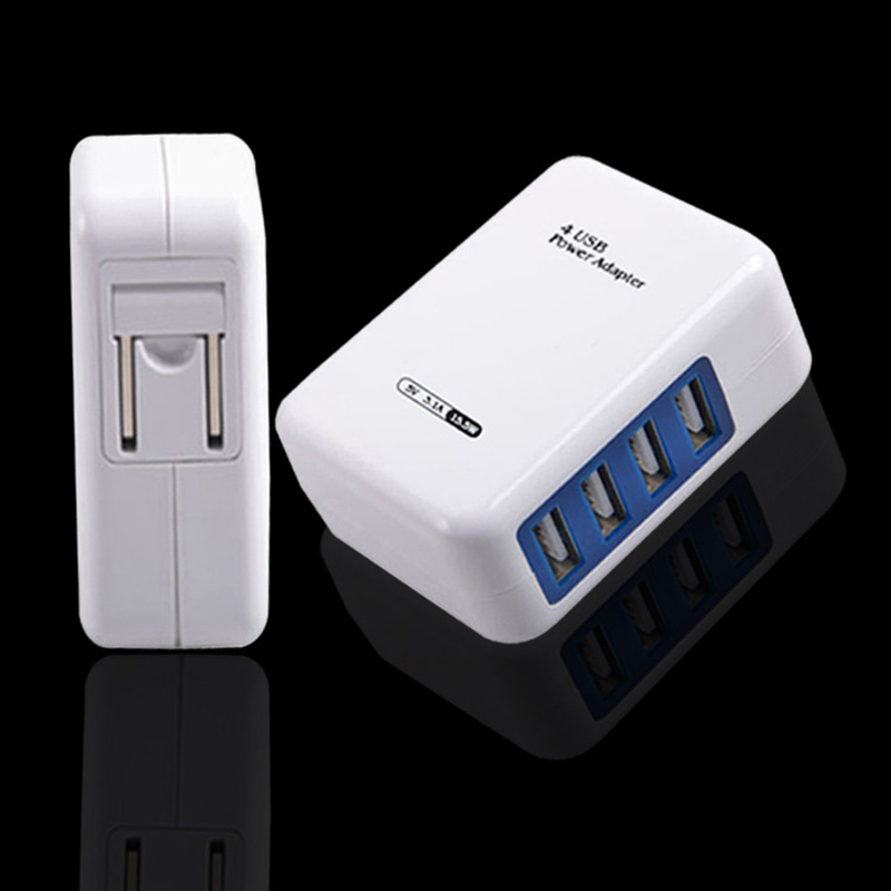 ZK90 High Quality Universal EU US Plug 4 Port Micro USB Power Charger Adapter HUB For Samsung For iPhone Sumsung Mobile Phone(China (Mainland))