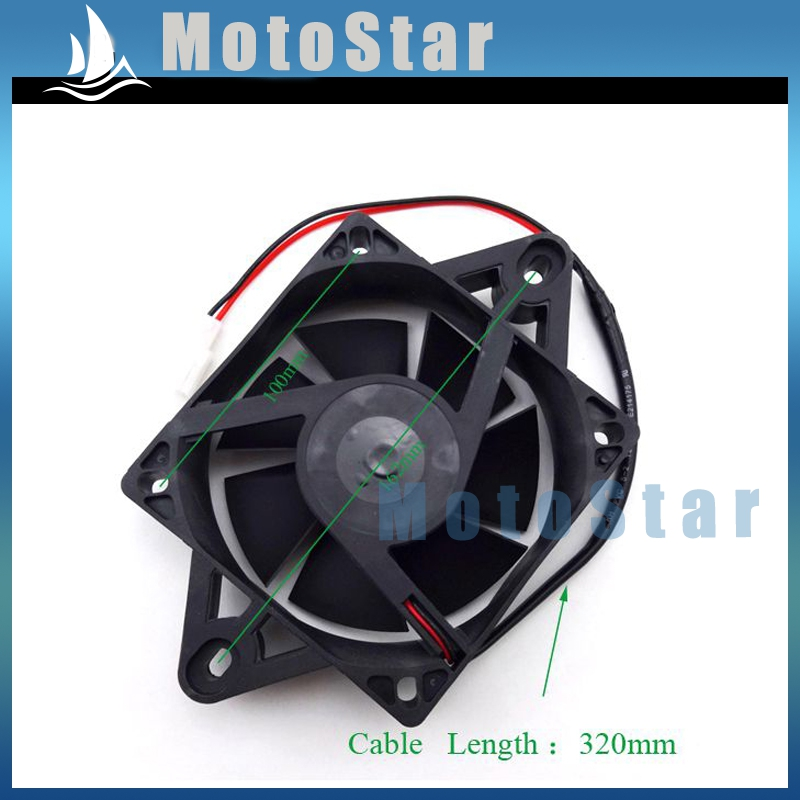 ATV UTV Electric Radiator Thermal Cooling Fan For Chinese Quad Go Kart Buggy 4 Wheeler 200cc 250cc(China (Mainland))