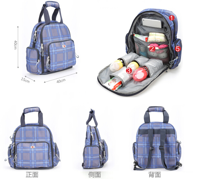 new multifunctional baby diper backpacks high quality nappy diaper bag backpack for mum large. Black Bedroom Furniture Sets. Home Design Ideas