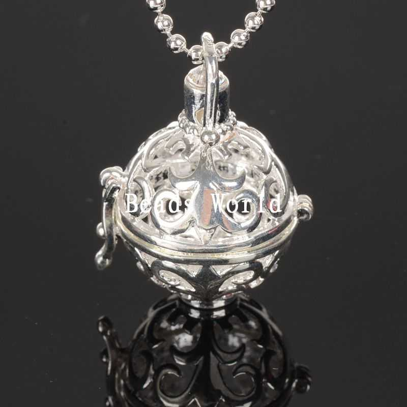 Wholesale Free Shipping 1 Pcs Silver Plated Copper Charm Pendants Bottle Shaped Hollow Wish Box 33x24mm(W05161)(China (Mainland))