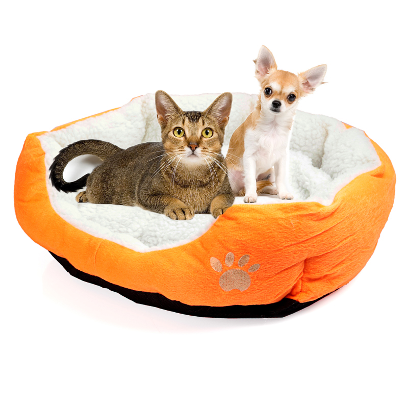 Super Cute Soft Cat Bed Winter House for Cat Warm Cotton Dog Pet Products Mini Puppy Pet Dog Bed Soft Comfortable Pet Sofa(China (Mainland))
