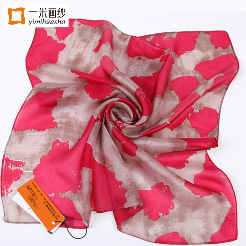 Chic style square silk scarves for Office Lady small foulard soie girls neckerchief scarf pretty floral painting bandana 52*52cm(China (Mainland))